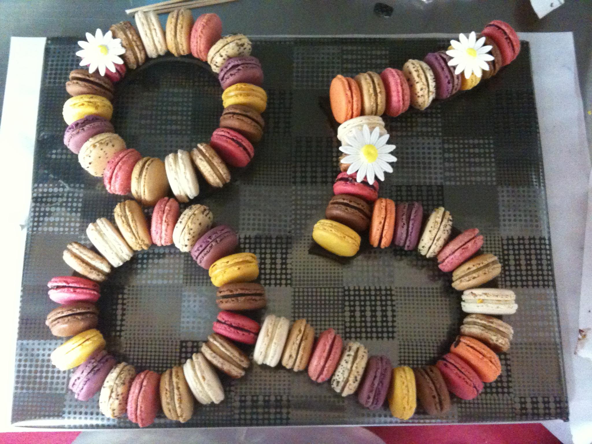 Pièce montée de macarons - Chiffre(s)