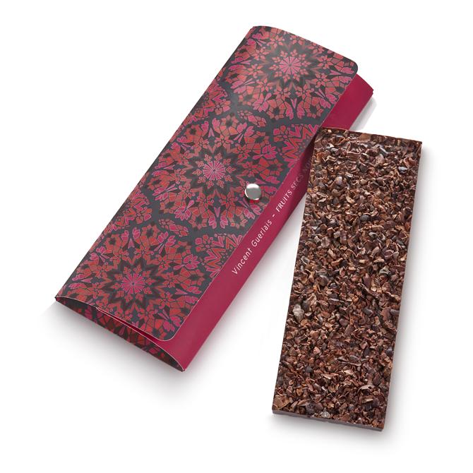 Tablette noir grué de cacao