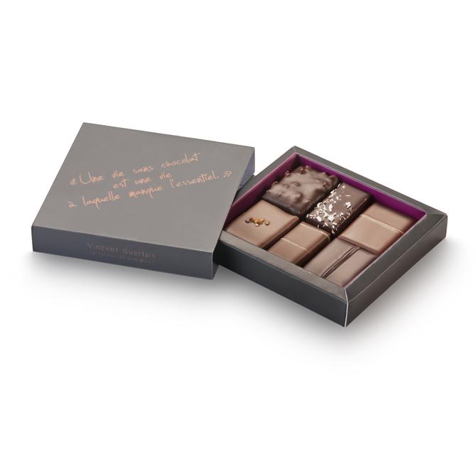 Les mini-ballotins de chocolats-Assortiment-Ballotin 6 chocolats