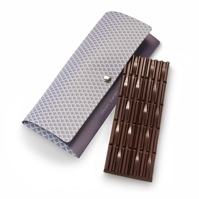 Tablette de chocolat noir et praliné feuilletine