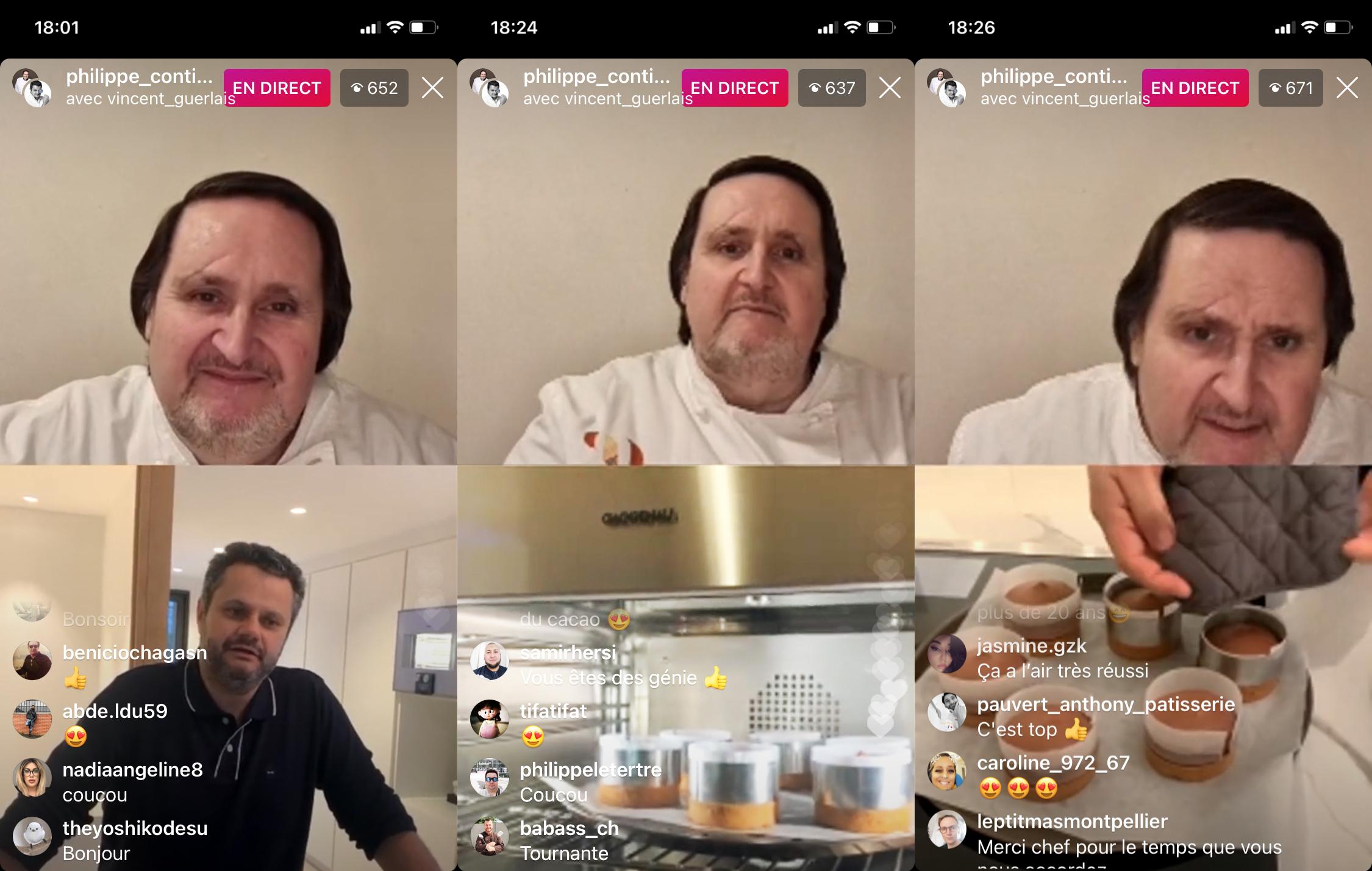 Live Instagram Vincent Guerlais Philippe Conticini Recette 22 Fevrier 2021